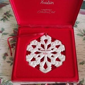 Longaberger 2000 Kaitlin Snowflake Ornament